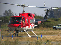 N85PP @ O69 - Aero Tech LLC Clovis, NM) 1985 Bell 212 after returning from water drops on the devastating October 2017 Northern California wildfires @ Petaluma Muni Airport, CA which was closed to fixed wing ops for 10 days to support nearly two dozen helicopters - by Steve Nation