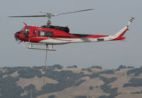 N931CH @ O69 - Heligroup Fire LLC (Missoula, MT) 1972 Bell 205A-1 ready to land at Petaluma Municipal Airport, CA temporary home base from making water drops on the devastating October 2017 Northern California wildfires - by Steve Nation