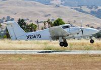 N2967D @ E16 - Reid Hillview based 1979 Piper Seminole landing at San Martin Airport, CA.