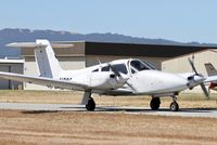 N2967D @ E16 - RHV based 1979 Piper PA-44-180 taxing to the ramp at San Martin Airport, CA.