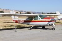 N432AF @ E16 - Locally-based 1973 Cessna 177RG parked on the ramp and rotting at San Martin Airport, CA.
