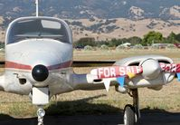 N711CT @ E16 - Locally-based 1973 Cessna 310Q parked on the ramp at San Martin Airport, CA.