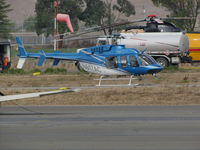 N617AC @ O69 - Aspen Helicopters (Oxnard, CA) 2003 Bell 407 taking a break at Petaluma Municipal Airport, CA temporary home base while supporting CALFIRE operations on the devastating October 2017 Northern California wild fires - by Steve Nation