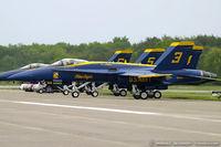 161956 @ KMIV - F/A-18A Hornet 161956 C/N 0167 from Blue Angels Demo Team  NAS Pensacola, FL - by Dariusz Jezewski www.FotoDj.com