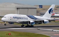 9M-MND @ EGLL - Malaysian A388 just moments before touch down. - by FerryPNL
