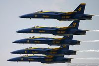 161942 @ KDAY - F/A-18A Hornet 161942 C/N 0149 from Blue Angels Demo Team  NAS Pensacola, FL - by Dariusz Jezewski www.FotoDj.com