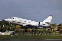 CS-DFK @ EGLF - Mid morning takeoff from Farnborough for this Netjets Dassault Falcon - by dave226688