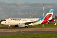 D-AGWC @ EGSH - Leaving Norwich with Eurowings colour scheme. - by keithnewsome