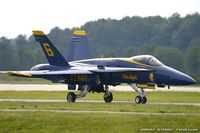 161955 @ KNTU - F/A-18A Hornet 161955 C/N 0166 from Blue Angels Demo Team  NAS Pensacola, FL - by Dariusz Jezewski www.FotoDj.com