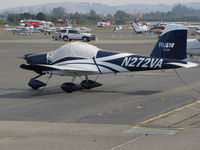 N272VA @ O69 - Novato, CA-based SLSA 2014 VANS RV-12 homebuilt with canopy cover @ its temporary Petaluma, CA home base while Novato's runway is resurfaced - by Steve Nation