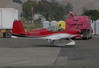 N2261 @ O69 - Novato, CA-based 2016 VANS RV-14A homebuilt taxiing @ its temporary Petaluma, CA home base while Novato's runway is resurfaced - by Steve Nation