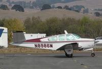 N8986M @ O69 - Novato, Ca-based 1964 Beech S35 @ its temporary Petaluma, CA home base while Novato's runway is resurfaced - by Steve Nation