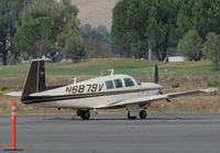 N6879V @ O69 - Novato, CA-based 1975 Mooney M20F @ its temporary Petaluma, CA home base while Novato's runway is resurfaced - by Steve Nation