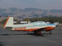 N3293F @ O69 - Novato, CA-based 1968 Mooney M-20G @ its temporary Petaluma, CA home base while Novato's runway is resurfaced - by Steve Nation