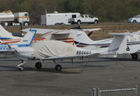 N644DS @ O69 - Novato, CA-based Fitzeoy Aviation LLC 2006 Diamond DA-40 with cockpit cover @ its temporary Petaluma, CA home base while Novato's runway is resurfaced - by Steve Nation