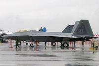 00-4017 @ KLSV - F-22 Raptor 00-4017 OT from 422nd TES Green Bats 53rd WG Nellis AFB, NV