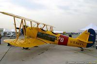 N44839 @ KLSV - Naval Aircraft Factory N3N-3 Yellow Peril C/N 2952, flown by H.W..Bush on April 26, 1943, N44839