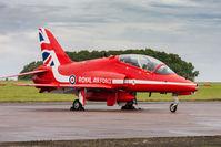 XX325 @ EGXP - HS Hawk T1 XX325 Red Arrows RAF, Scampton Air Show 2017 - by Grahame Wills
