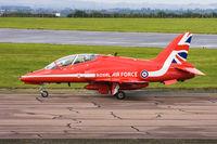 XX227 @ EGXP - HS Hawk T1A XX227 Red Arrows RAF, Scampton Air Show 2017 - by Grahame Wills