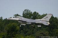 85-1487 @ KYIP - F-16C Fighting Falcon 85-1487 MI from 107th FS Red Devils 127th FW Selfridge ANGB, MI - by Dariusz Jezewski www.FotoDj.com