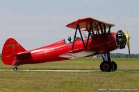 N32498 @ KYIP - Boeing A75L3 PT-13 Kaydet  C/N 75-1425 - Peter Chestnut, N32498
