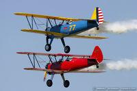 N79650 @ KYIP - Boeing E75N1 Stearman  C/N 75-5770 - Dave Groh, N79650
