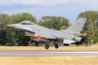 E-600 @ LFSI - Royal Danish Air Force SABCA F-16AM Fighting Falcon, Landing rwy 29, St Dizier-Robinson Air Base 113 (LFSI) Open day 2017 - by Yves-Q