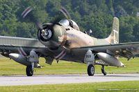 N959AD @ KFWN - Douglas AD-4NA Skyraider Naked Fanny C/N 7759, N959AD