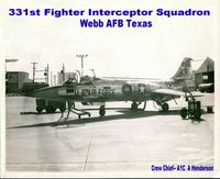 56-0685 @ WEBB - I was the crew chief on 56-0865 when it was stationed at Webb Air Force Base - by Arvin D. Henderson