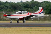 063 @ LFSI - Pilatus PC-9M, Croatian Air Force aerobatic team, Landing rwy 29, St Dizier-Robinson Air Base 113 (LFSI) Open day 2017 - by Yves-Q