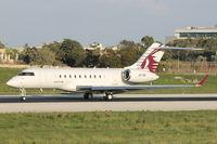 A7-CEI @ LMML - Bombardier BD-700 A7-CEI Qatar Airways - by Raymond Zammit