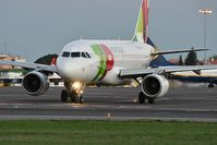 CS-TTJ @ LPPT - Holding point runway 03 TAP Air Portugal 1046 ready to departure to Barcelona (BCN) - by JC Ravon - FRENCHSKY