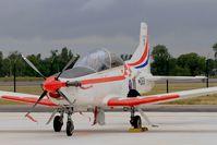 069 @ LFSI - Pilatus PC-9M, Croatian Air Force aerobatic team, Flight line, St Dizier-Robinson Air Base 113 (LFSI) Open day 2017 - by Yves-Q