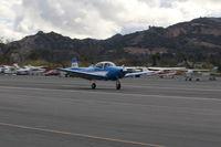 N8867H @ SZP - 1947 North American NAVION, Continental IO-520 285 Hp upgrade, landing roll Rwy 22, Young Eagles flight - by Doug Robertson