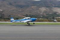 N8867H @ SZP - 1947 North American NAVION, Continental IO-520 285 Hp upgrade, takeoff Rwy 22, Young Eagles flight - by Doug Robertson