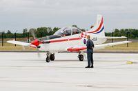 056 @ LFSI - Pilatus PC-9M, Croatian Air Force aerobatic team, Start engine, St Dizier-Robinson Air Base 113 (LFSI) Open day 2017 - by Yves-Q