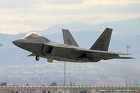 99-4011 @ LSV - F-22 Raptor 99-4011 OT from 422nd TES Green Bats 53rd WG Nellis AFB, NV