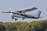 G-RUIA @ EGFH - Resident Skyhawk operated by Cambrian Flying Club departing Runway 22.