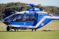 0757 @ LFRU - Eurocopter EC-135T-2, Morlaix-Ploujean airport (LFRU-MXN) air show 2017 - by Yves-Q