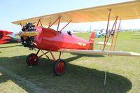 N255MS @ LAL - Hatz Biplane with a Warner radial engine