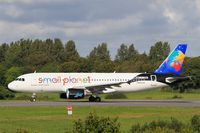 LY-ONL @ LFRB - Airbus A320-214, Lining up rwy 25L, Brest-Bretagne airport (LFRB-BES) - by Yves-Q