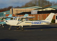 G-BNKR @ EGTB - Cessna 152 at Wycombe Air Park. Ex N49458