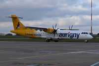 G-COBO @ EGSH - Departing from Norwich.