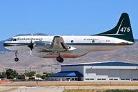 C-GSKQ @ KBOI - Landing RWY 28L. - by Gerald Howard