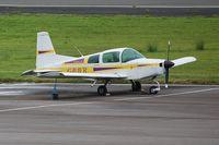 G-BAVR @ EGFH - Resident AA-5 aircraft.