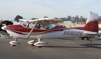 N5922B @ SZP - 1956 Cessna 182A SKYLANE, Continental 470-S 230 Hp - by Doug Robertson