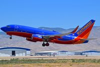 N235WN @ KBOI - Departing RWY 28L. - by Gerald Howard