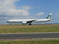 B-KQZ @ NZAR - about to leave for HK - by magnaman