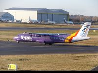 EI-REL @ EGBB - Lining up on runway 33 at Birmingham Airport. - by Luke Smith-Whelan