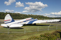N13347 @ KBFI - On display at The Museum of Flight in vintage United Airlines colours after a 14-year restoration.